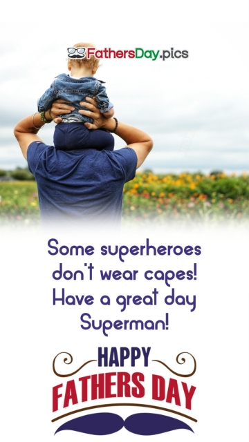 Happy Fathers Day To Superhero Dad