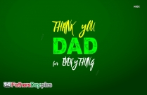 Thank You For Everything Dad Message