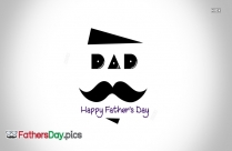 Happy Fathers Day Black And White
