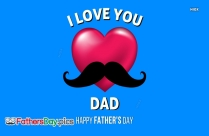 i love you because fathers day